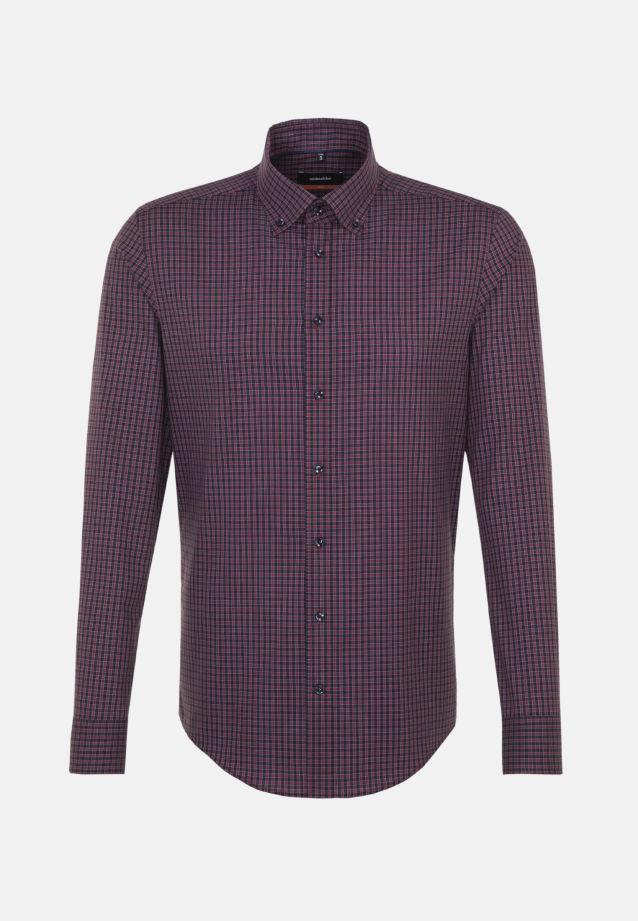 Non-iron Poplin Business Shirt in Slim with Button-Down-Collar in Red |  Seidensticker Onlineshop