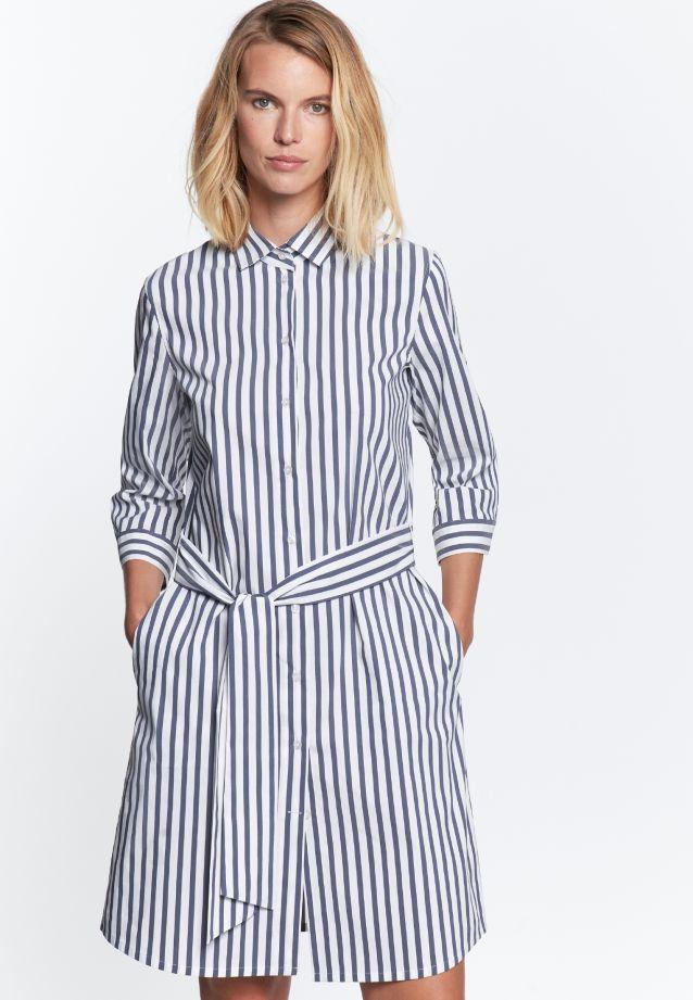 3/4 arm Poplin Dress made of 76% Cotton 22% Polyamid/Nylon 2% Elastane in Dunkelblau |  Seidensticker Onlineshop