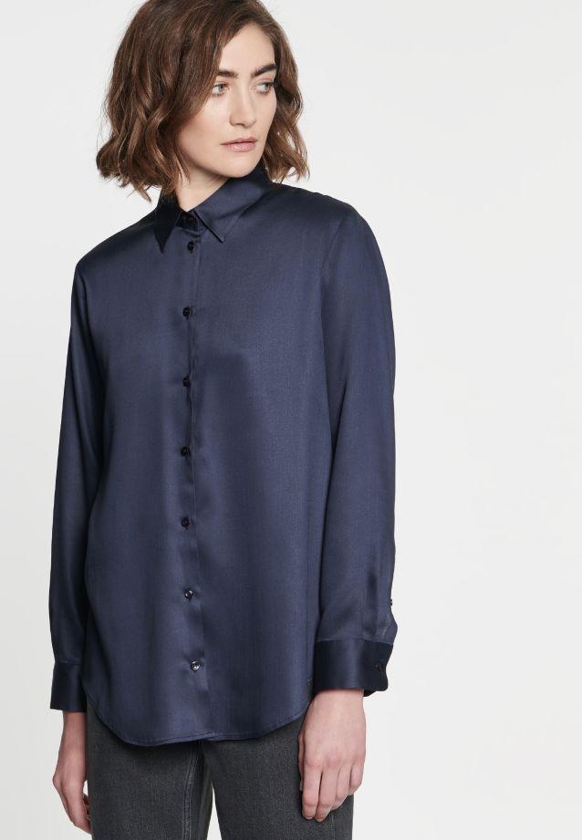 Popeline Hemdbluse aus 100% Viskose in blue |  Seidensticker Onlineshop