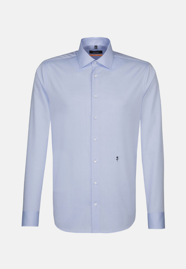 Non-iron Twill Business Shirt in Slim with Kent-Collar in Hellblau |  Seidensticker Onlineshop
