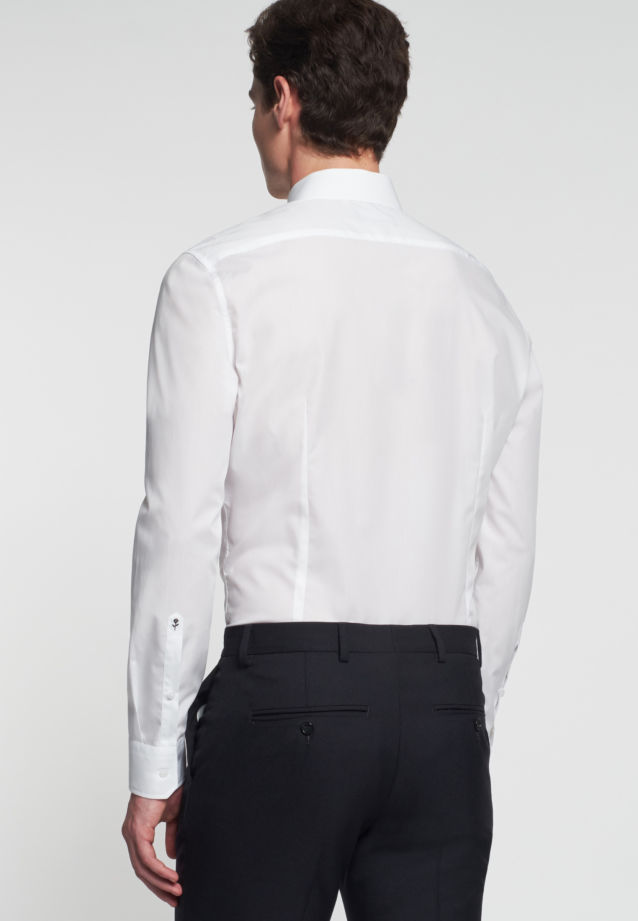 Popeline Business Hemd in Tailored mit Kentkragen in weiß |  Seidensticker Onlineshop