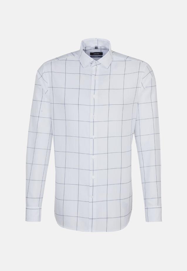 Bügelleichtes Twill Business Hemd in Tailored mit Kentkragen in blau |  Seidensticker Onlineshop