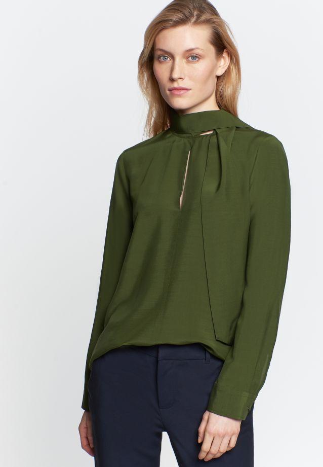 Voile Shirt Blouse made of 100% Viskose in grün    Seidensticker Onlineshop