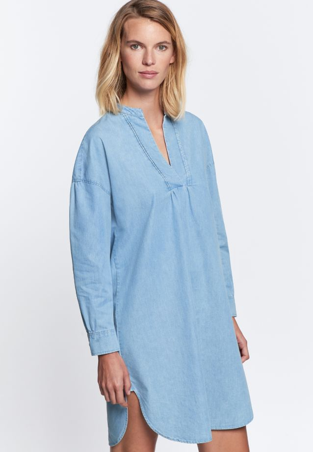 Denim Midi Dress made of 100% Cotton in Light blue |  Seidensticker Onlineshop
