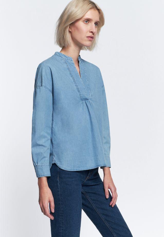 Denim Schlupfbluse aus 100% Baumwolle in Hellblau |  Seidensticker Onlineshop