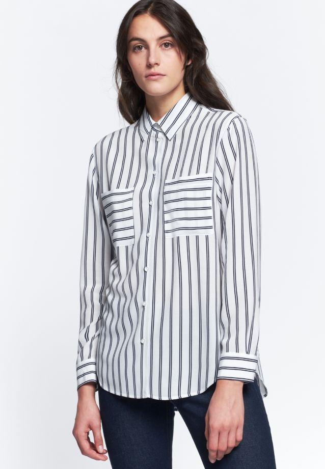 Crepe Shirt Blouse made of 100% Viskose in Dark blue |  Seidensticker Onlineshop