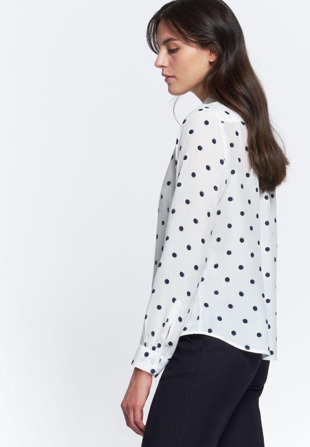 Voile Shirt Blouse made of 100% Viskose in weiß-blau |  Seidensticker Onlineshop
