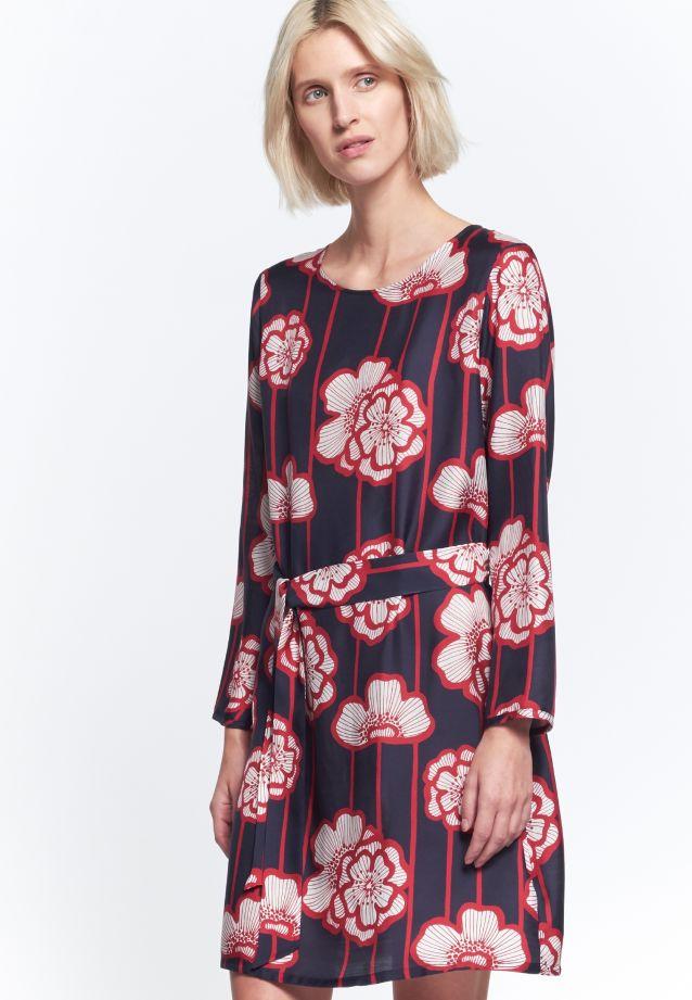 Voile Dress made of 80% Viskose 20% Silk in Dark blue |  Seidensticker Onlineshop