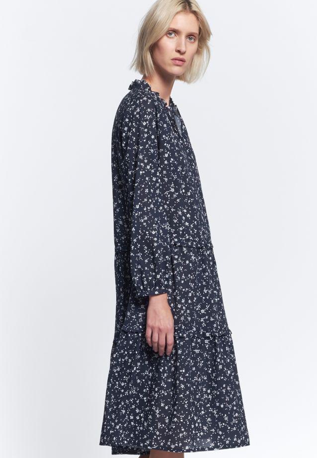 Voile Dress made of 100% Cotton in Dark blue |  Seidensticker Onlineshop