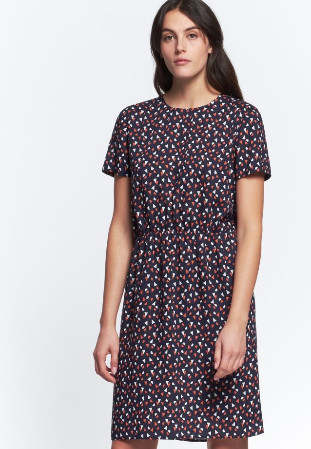 Poplin Midi Dress made of 100% Viscose in Dark blue |  Seidensticker Onlineshop