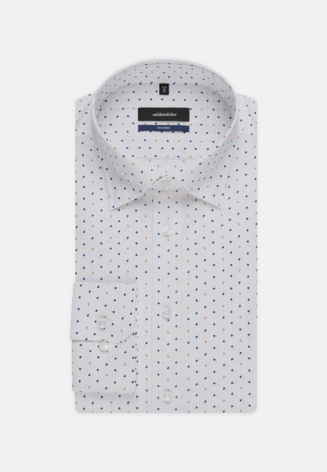 Easy-iron Poplin Business Shirt in Shaped with Covered-Button-Down-Collar in Orange |  Seidensticker Onlineshop