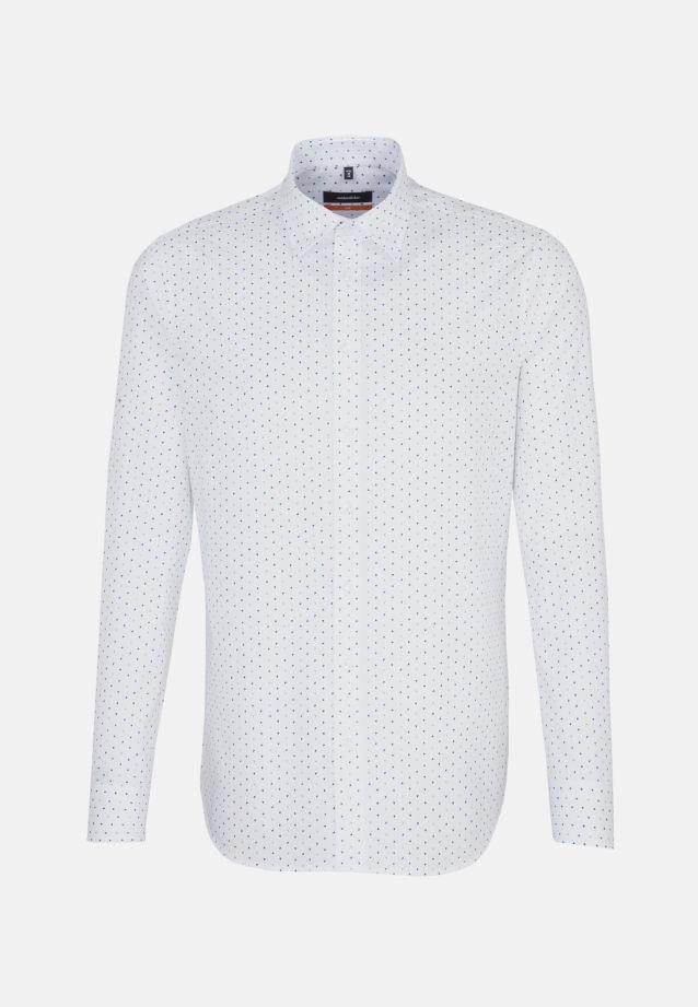 Bügelleichtes Popeline Business Hemd in Slim mit Covered-Button-Down-Kragen in Orange    Seidensticker Onlineshop