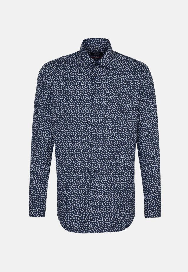 Bügelleichtes Popeline Business Hemd in Modern mit Kentkragen in Dunkelblau |  Seidensticker Onlineshop