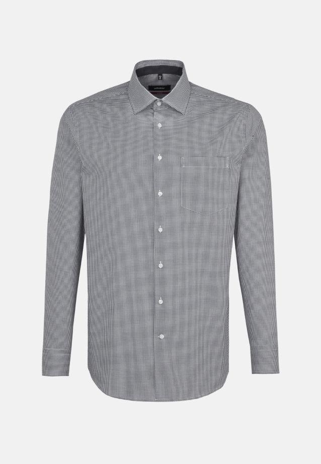 Bügelfreies Popeline Business Hemd in Modern mit Kentkragen in Grau |  Seidensticker Onlineshop