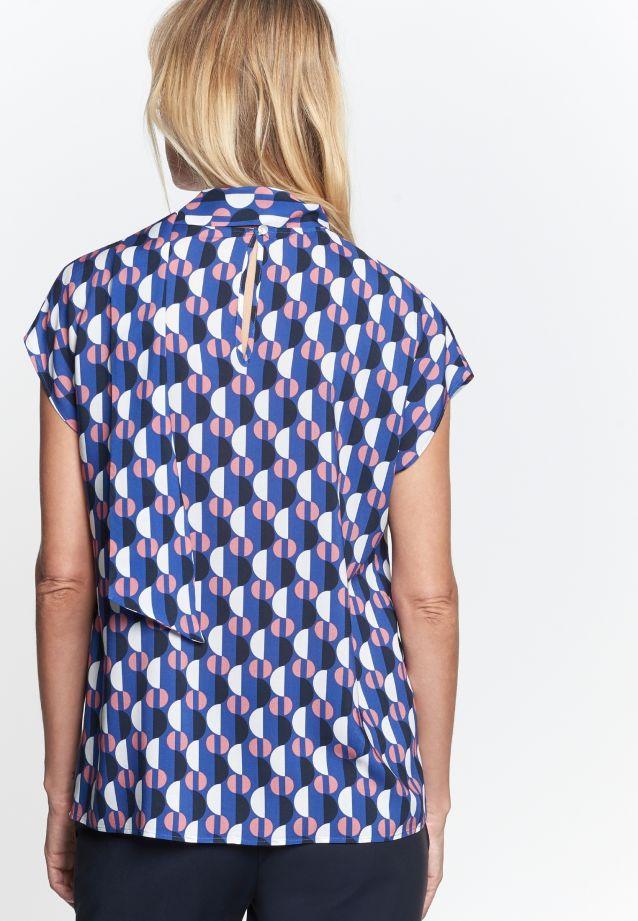 Ärmellose Voile Shirtbluse aus 100% Viskose in blau |  Seidensticker Onlineshop