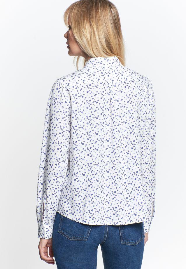 Poplin Shirt Blouse made of 100% Viskose in blau    Seidensticker Onlineshop