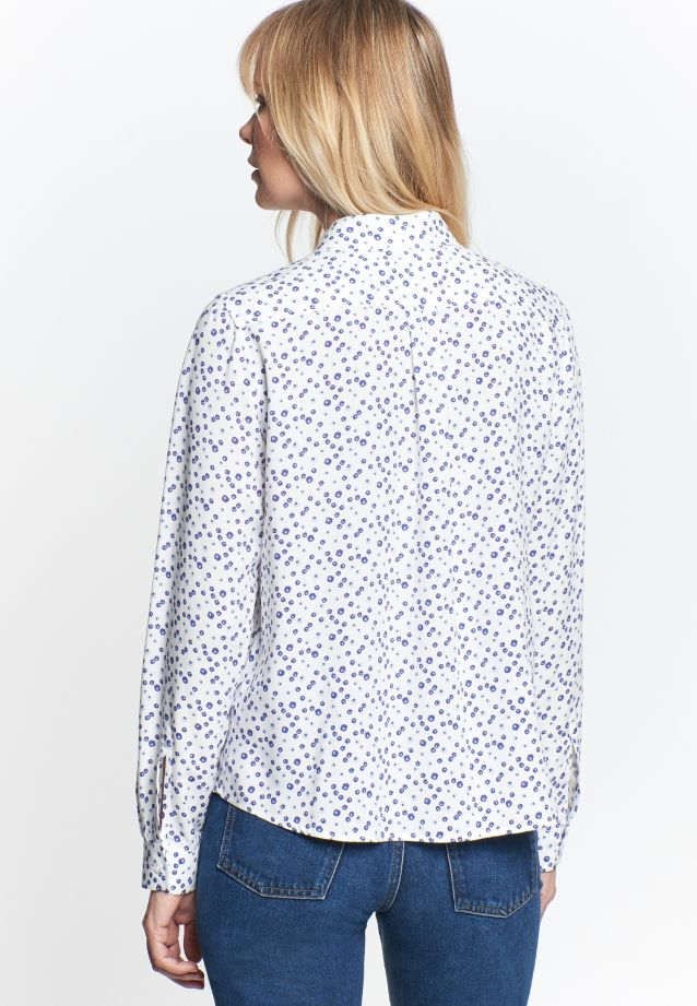 Poplin Shirt Blouse made of 100% Viskose in Medium blue |  Seidensticker Onlineshop