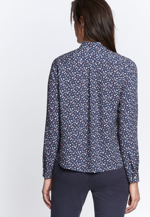 Poplin Shirt Blouse made of 100% Viscose in Dark blue |  Seidensticker Onlineshop