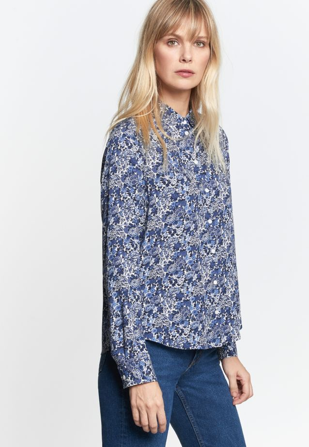Poplin Shirt Blouse made of 100% Viskose in Dark blue |  Seidensticker Onlineshop