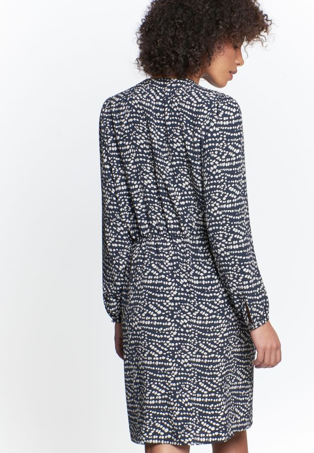 Crepe Dress made of 100% Viskose in navy grey |  Seidensticker Onlineshop