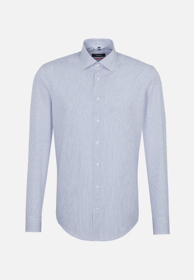 Popeline Business Hemd in Slim mit Kentkragen in blau |  Seidensticker Onlineshop