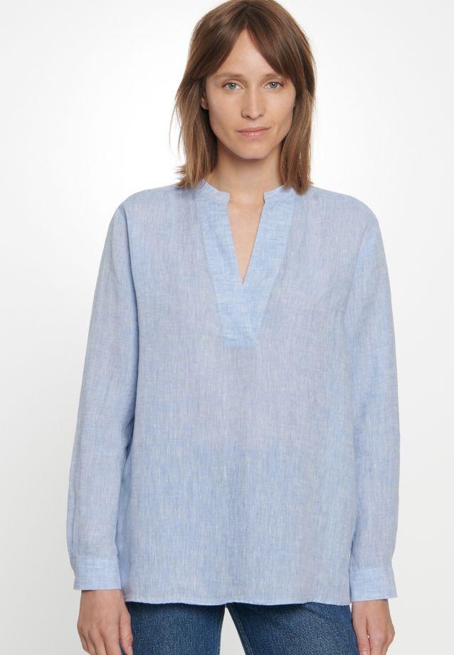 Linen Slip Over Blouse made of 100% Leinen/Flachs in bleu |  Seidensticker Onlineshop