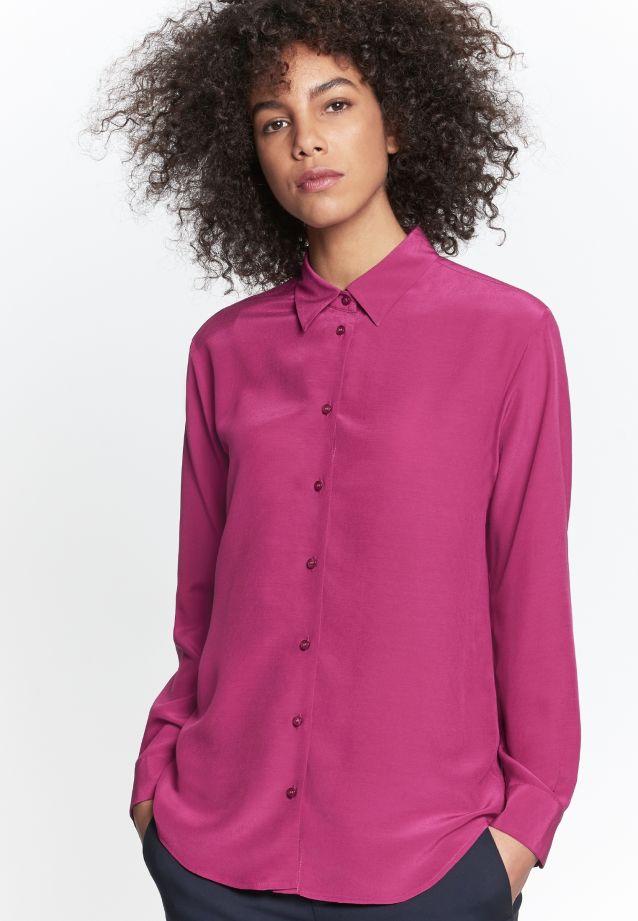 Crepe Shirt Blouse made of 100% Viskose in dunkelrot |  Seidensticker Onlineshop