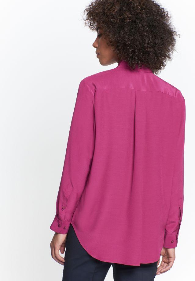 Krepp Hemdbluse aus 100% Viskose in Rosa/Pink |  Seidensticker Onlineshop