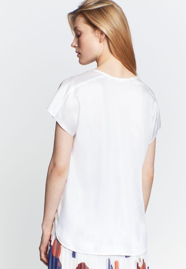 Kurzarm Popeline Shirtbluse aus 100% Viskose in weiß(NP) |  Seidensticker Onlineshop