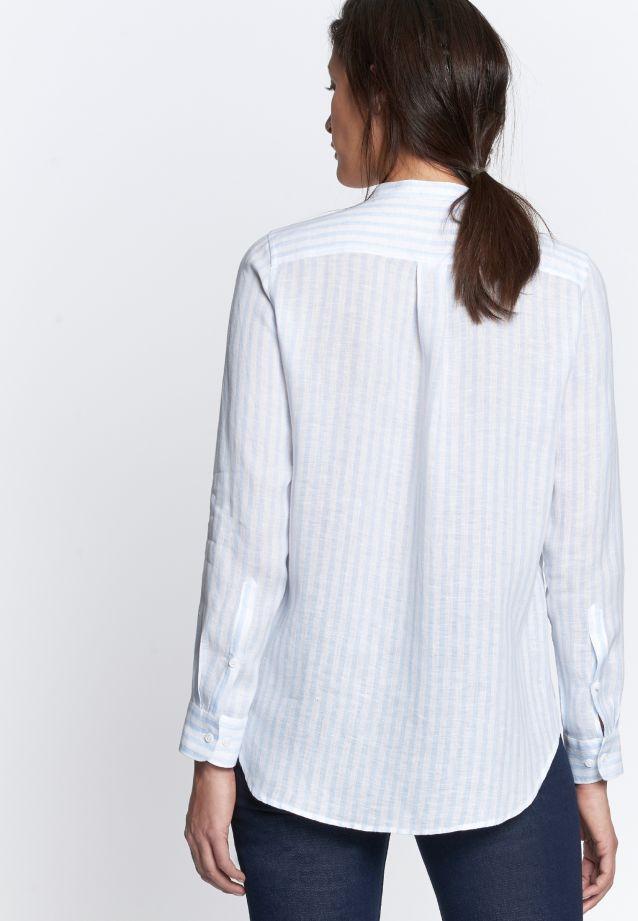 Linen Stand-Up Blouse made of 100% Leinen/Flachs in Light blue |  Seidensticker Onlineshop