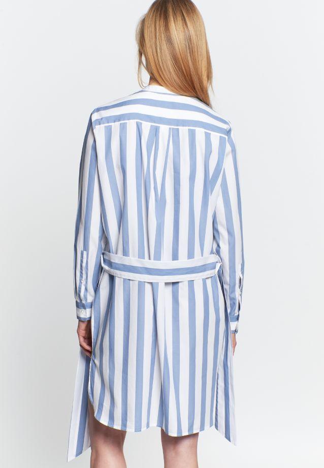 Satin Midi Kleid aus 100% Baumwolle in Mittelblau |  Seidensticker Onlineshop