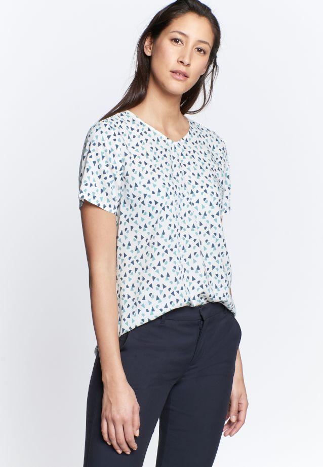 Kurzarm Popeline Shirtbluse aus 100% Viskose in türkis(dunkel) |  Seidensticker Onlineshop