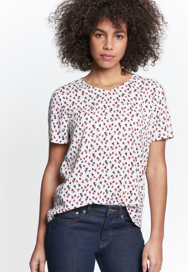 Kurzarm Popeline Shirtbluse aus 100% Viskose in rot |  Seidensticker Onlineshop