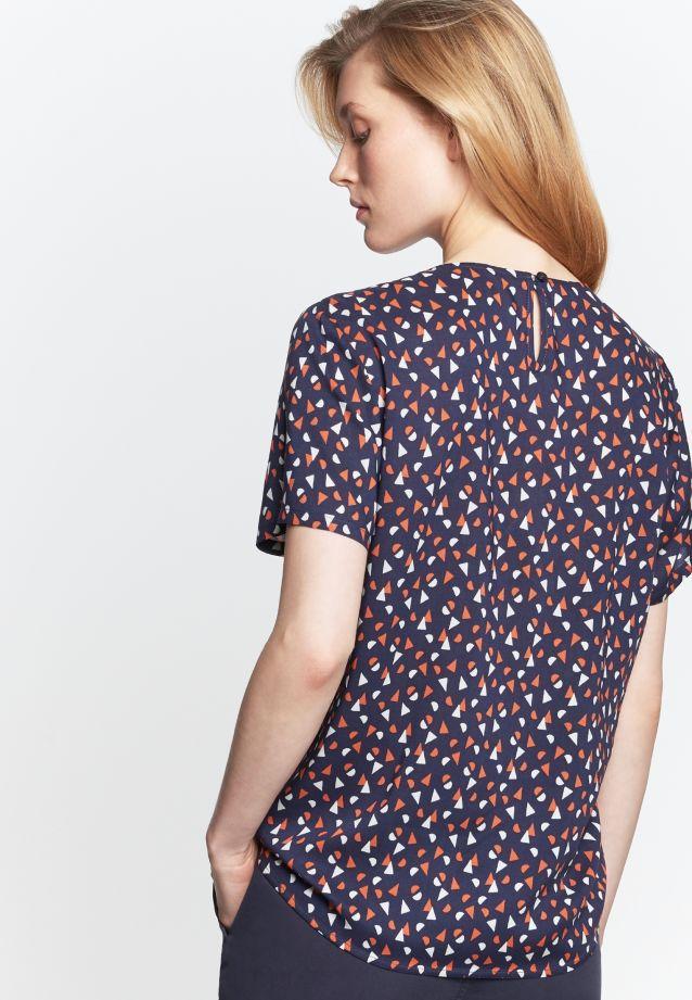 Short arm Poplin Shirt Blouse made of 100% Viskose in dunkelblau |  Seidensticker Onlineshop