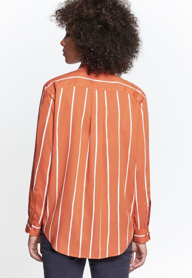 Poplin Shirt Blouse made of 100% Viscose in Orange |  Seidensticker Onlineshop