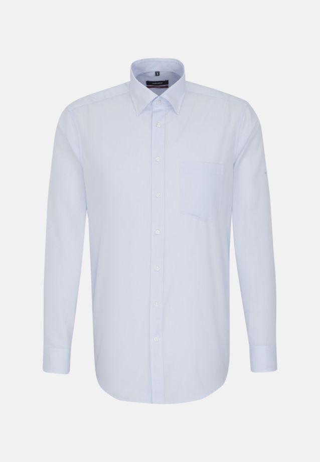 Bügelfreies Popeline Business Hemd in Regular mit Covered-Button-Down-Kragen in Hellblau |  Seidensticker Onlineshop