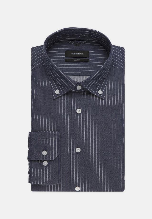 Easy-iron Twill Business Shirt in Comfort with Button-Down-Collar in blau |  Seidensticker Onlineshop