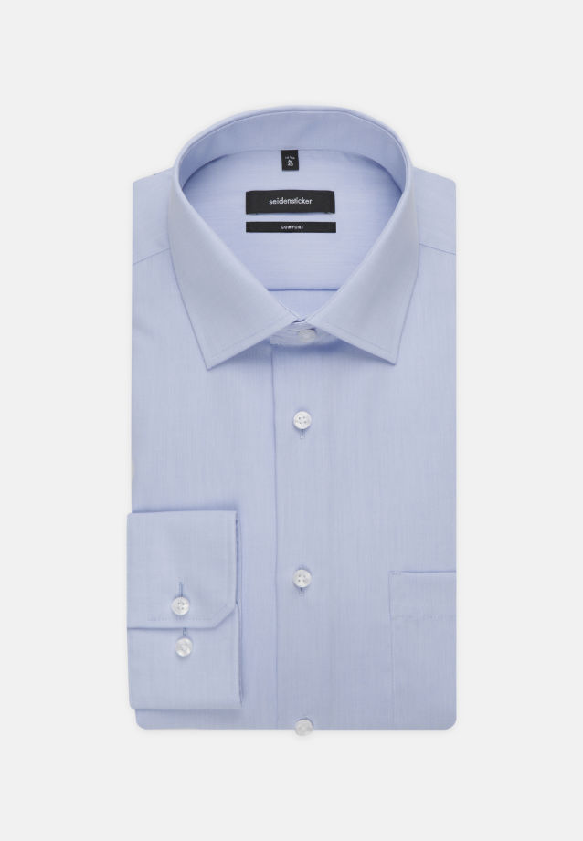 Non-iron Chambray Business Shirt in Comfort with Kent-Collar and extra long arm in hellblau |  Seidensticker Onlineshop