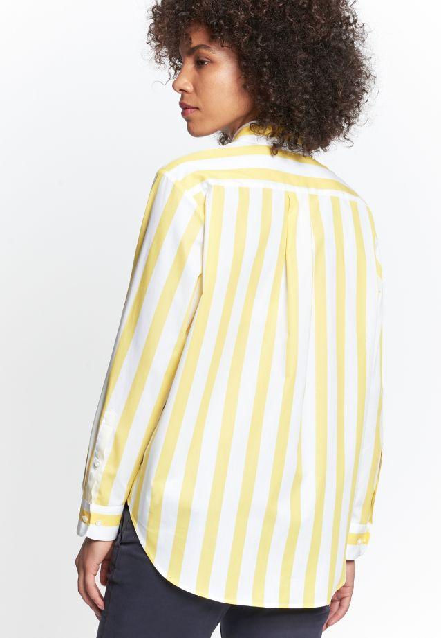Satin Hemdbluse aus 100% Baumwolle in gelb |  Seidensticker Onlineshop
