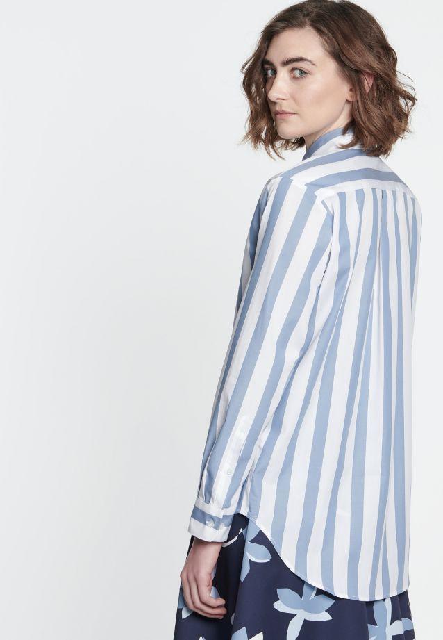 Satin Hemdbluse aus 100% Baumwolle in blau |  Seidensticker Onlineshop