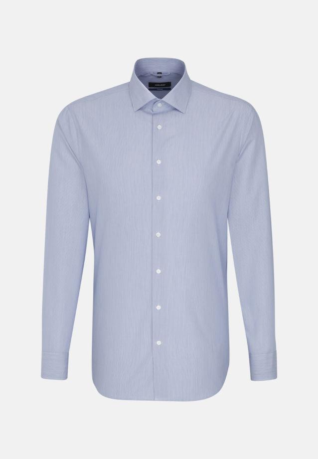 Popeline Business Hemd in Tailored mit Kentkragen in blau    Seidensticker Onlineshop