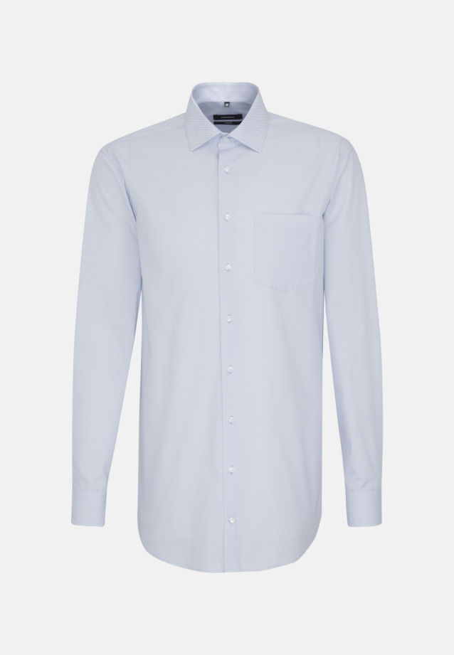 Bügelleichtes Popeline Business Hemd in Comfort mit Kentkragen und extra langem Arm in Hellblau |  Seidensticker Onlineshop
