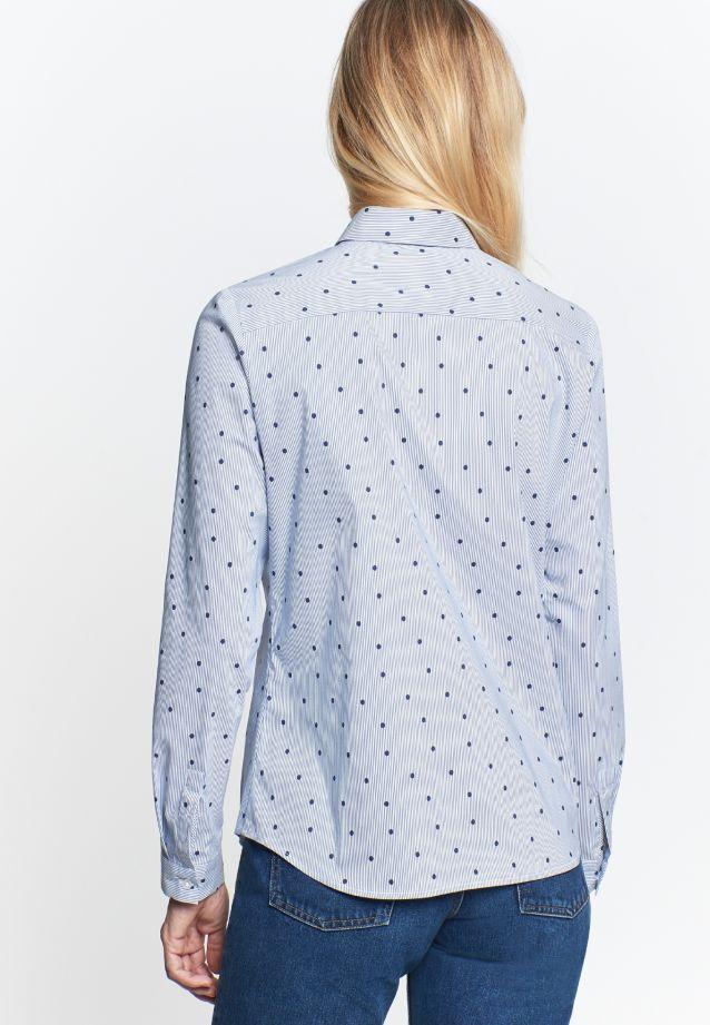 Poplin Shirt Blouse made of 76% Cotton 22% Polyamid/Nylon 2% Elastane in Dark blue |  Seidensticker Onlineshop