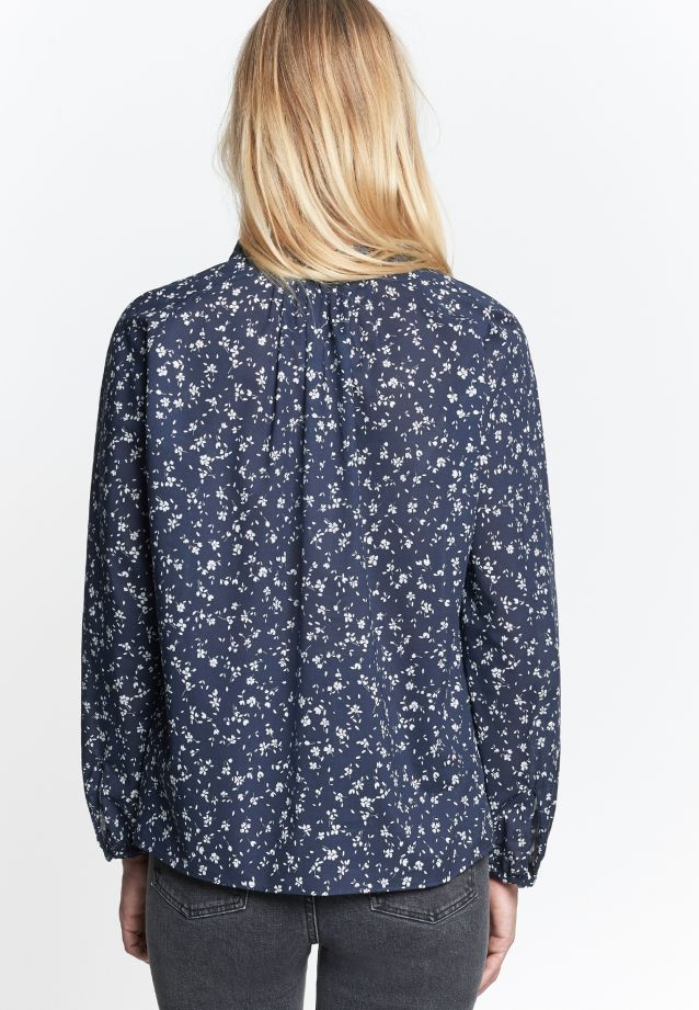 Voile Slip Over Blouse made of 100% Cotton in Dark blue |  Seidensticker Onlineshop