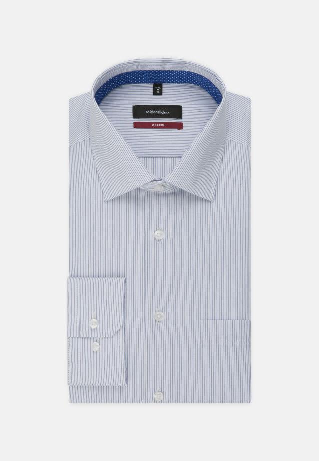 Bügelfreies Popeline Business Hemd in Modern mit Kentkragen in Mittelblau |  Seidensticker Onlineshop