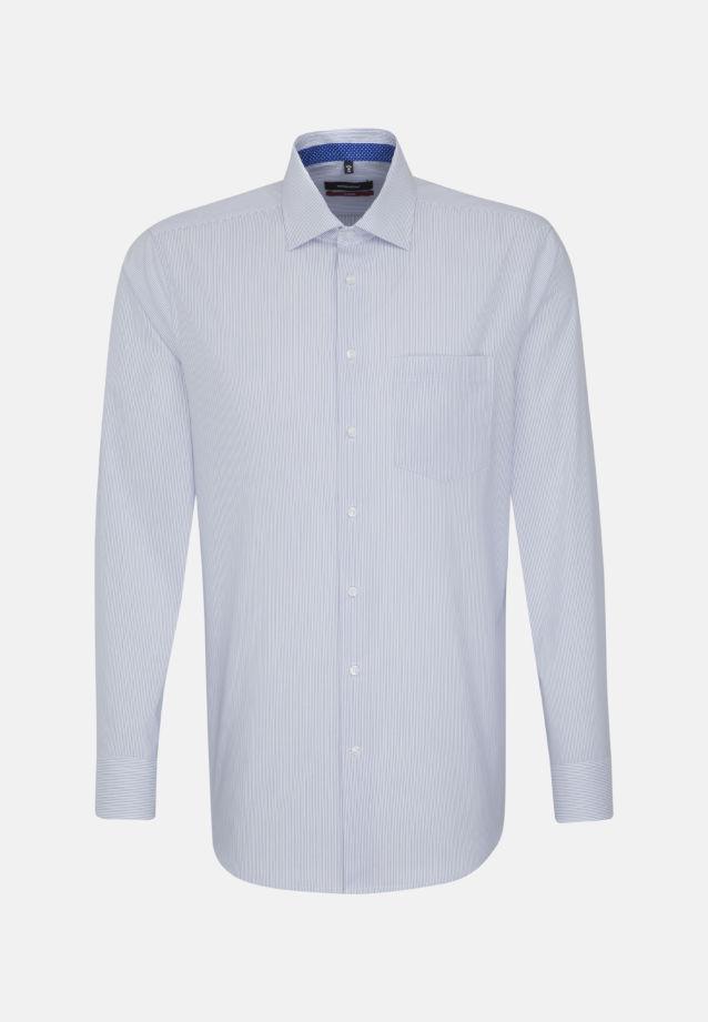 Bügelfreies Popeline Business Hemd in Modern mit Kentkragen in blau    Seidensticker Onlineshop