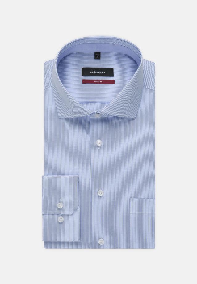 Bügelfreies Popeline Business Hemd in Modern mit Kentkragen und extra langem Arm in Hellblau |  Seidensticker Onlineshop