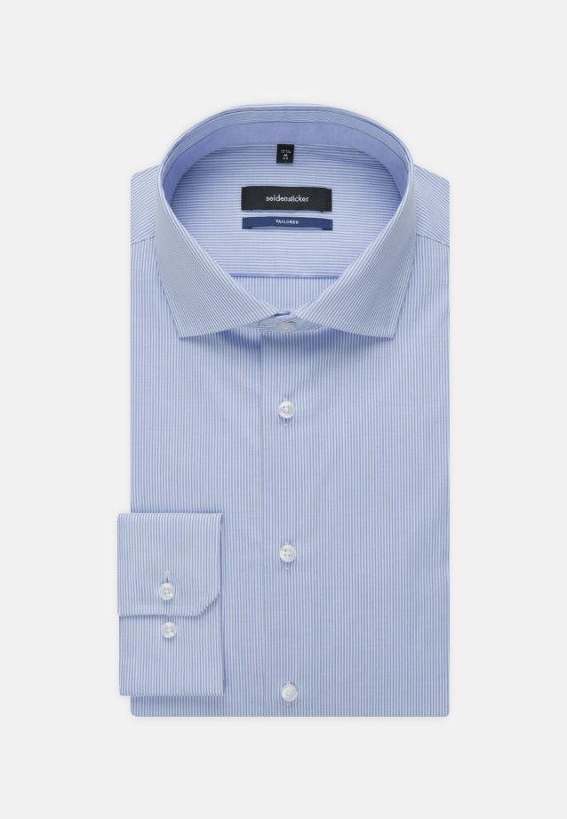 Bügelfreies Popeline Business Hemd in Tailored mit Kentkragen und extra langem Arm in hellblau |  Seidensticker Onlineshop
