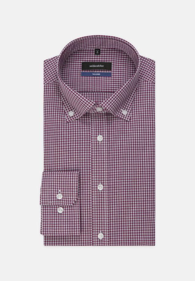 Bügelfreies Popeline Business Hemd in Tailored mit Button-Down-Kragen in Lila |  Seidensticker Onlineshop