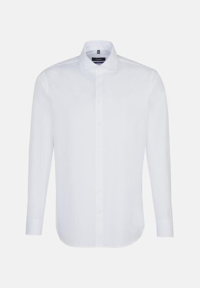 Bügelleichtes Twill Business Hemd in Tailored mit Kentkragen in Weiß    Seidensticker Onlineshop